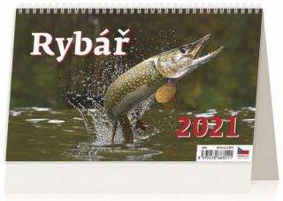 Kalendář 2021 stolní: Rybář, 226x139