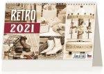 Kalendář 2021 stolní: Retro, 226x139