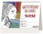 Kalendář 2021 stolní: Antistresový pracovní, 211x148
