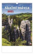 Kalendář 2021 nástěnný: Skalní města, 315x450