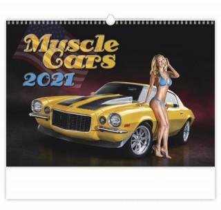 Kalendář 2021 nástěnný: Muscle Cars, 450x315