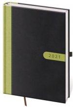 Diář 2021 denní A5 Bora - černo/zelená