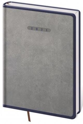 Diář 2021 denní A5 Elegant - šedo/modrá