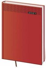 Diář 2021 denní A5 Gommato - červená