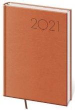 Diář 2021 denní A5 Print - oranžová