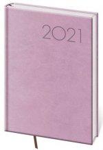 Diář 2021 denní A5 Print - růžová