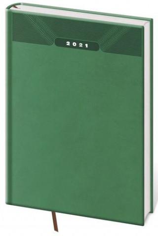 Diář 2021 denní A5 Print - zelená