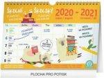 Školní plánovací kalendář s háčkem 2021