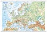 Evropa Evropa -  obecně zeměpisná mapa, office, nástěnná, 1 : 4 500 000