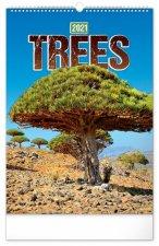 Nástěnný kalendář Stromy 2021
