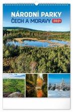 Kalendář 2021 nástěnný: Národní parky Čech a Moravy, 33 × 46 cm