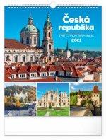 Kalendář 2021 nástěnný: Česká republika, 30 × 34 cm