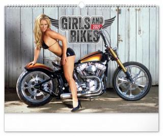 Nástěnný kalendář Girls & Bikes Jim Gianatsis 2021