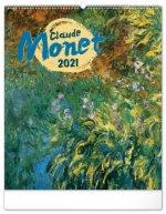 Kalendář 2021 nástěnný: Claude Monet, 48 × 56 cm