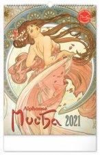 Nástěnný kalendář Alfons Mucha 2021