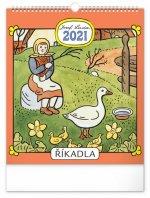 Nástěnný kalendář Josef Lada – Říkadla 2021