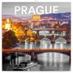 Kalendář 2021 poznámkový: Praha černobílá, 30 × 30 cm