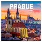 Kalendář 2021 poznámkový: Praha nostalgická, 30 × 30 cm