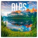 Kalendář 2021 poznámkový: Alpy, 30 × 30 cm