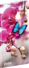 Kapesní diář Motýli 2021, plánovací měsíční