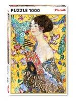 Puzzle Klimt - Dáma s vějířem 1000 dílků