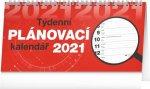 Kalendář 2021 stolní: Plánovací řádkový, 25 × 12,5 cm