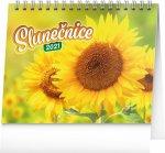 Kalendář 2021 stolní: Slunečnice s citáty, 16,5 × 13 cm