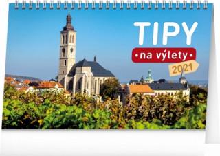 Kalendář 2021 stolní: Tipy na výlety, 23,1 × 14,5 cm