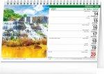 Kalendář 2021 stolní: Krajina CZ/SK, 23,1 × 14,5 cm