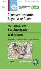 DAV Alpenvereinskarte Bayerische Alpen 21. Nationalpark Berchtesgaden, Watzmann 1 : 25 000