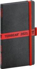 Diář 2021: Teribear - týdenní, 9 × 15,5 cm
