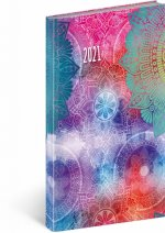 Diář 2021: Cambio Fun - Mandala - kapesní, 9 × 15,5 cm