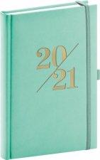 Diář 2021: Vivella Fun - tyrkysový - denní, 15 × 21 cm