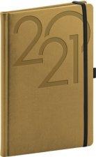 Týdenní diář Ajax 2021, zlatý, 15 × 21 cm