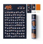 Plakat zdrapka 100 bucketlist kamasutra edition
