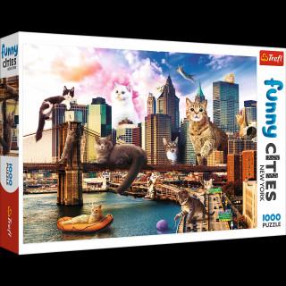 Puzzle 1000 Koty w Nowym Yorku 10595