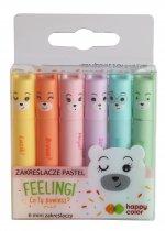 Zakreślacze Happy Color mini 6 kolorów pastelowych