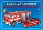 Jednoduchá vystřihovánka hasičské auto