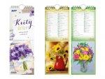 Pohlednicový Květy - nástěnný kalendář 2021