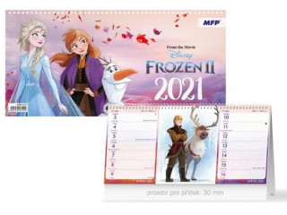 DISNEY Frozen (čtrnáctidenní) - stolní kalendář 2021