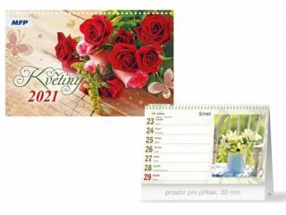 Květiny - stolní kalendář 2021