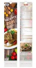 Vázankový Recepty - nástěnný kalendář 2021