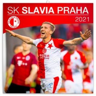Kalendář 2021 poznámkový: SK Slavia Praha, 30 x 30 cm