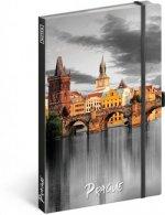 Notes - Praha, linkovaný, 13 × 21 cm