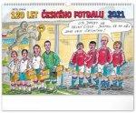 Kalednář 2021 nástěnný: 120 let českého fotbalu – Petr Urban, 48 x 33 cm