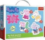 Baby puzzle Prasátko Peppa 4v1