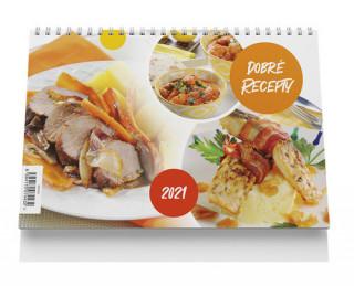 Stolní kalendář - Dobré recepty 2021