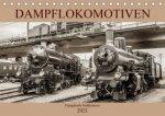 Dampflokomotiven - dampfende Stahlkolosse (Tischkalender 2021 DIN A5 quer)