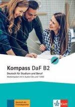 Kompass DaF B2. Medienpaket (4 Audio-CDs + 1 DVD)