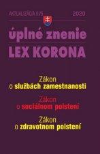 Aktualizácia III/5 2020 – Sociálne poistenie a služby zamestnanosti